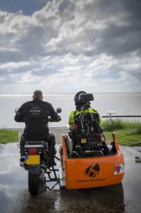 Ost Friesland met uitzicht over de Ems monding.