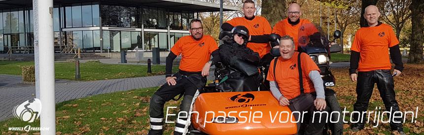 Vrijwilligers van de stichting Wheels 4 Freedom